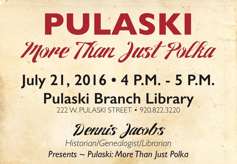 Need something to do on Thursday of Polka Days in Pulaski, WI?